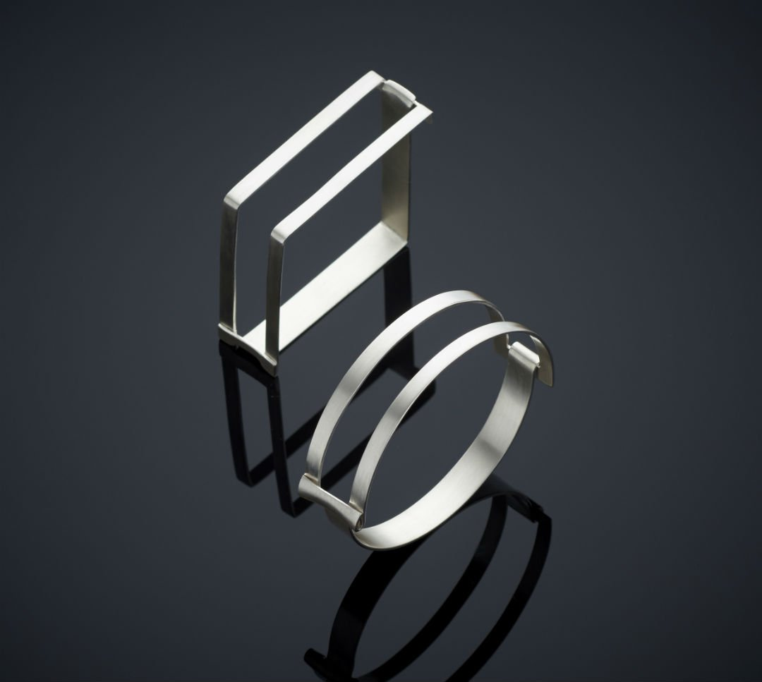 Sterling Silver Singular bangles by Emma Jane Champley