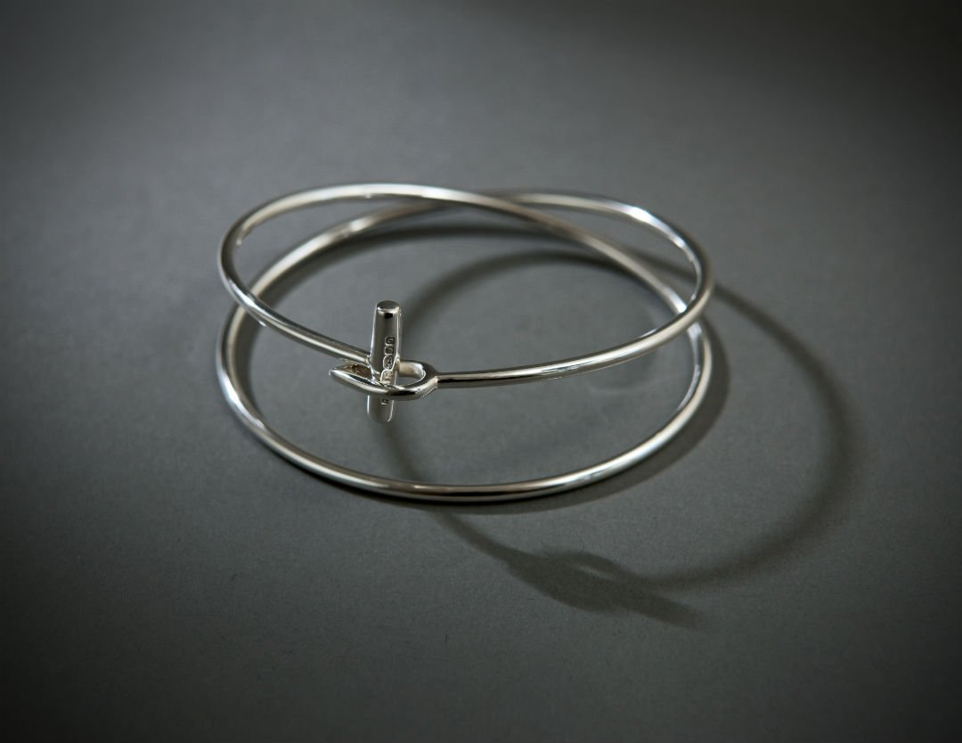 Silver Eclipse bangle by Emma Jane Champley