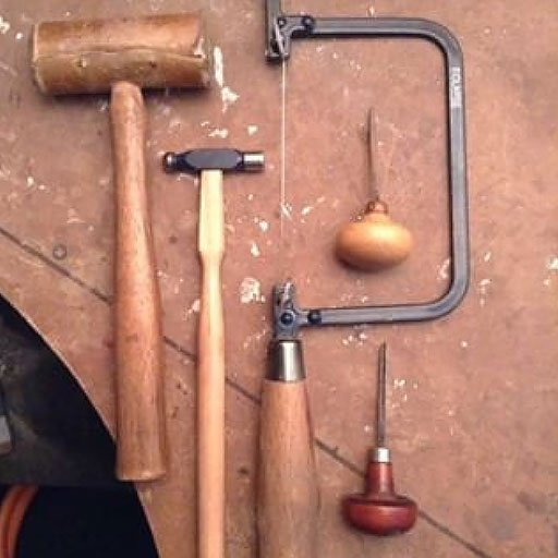 Bench tools at Emm Jane Champley's Studio