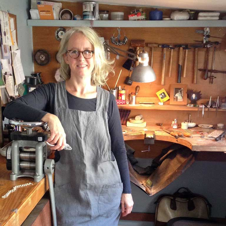 About Emma Jane Champley and her jewellery workshop.