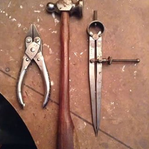 Jewellers tools at Emma Jane Champleys studio
